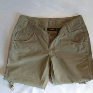Army Green DKNY Capris -Size 2